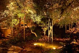 outdoor water features with lights the bright ideas blog landscape lighting pro of utah water