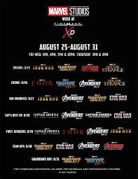 5 tickets cinemark marvel week movie deal expired movie