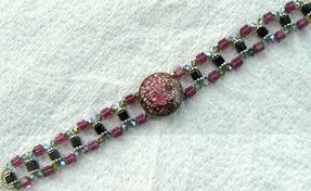 antique beaded bracelet images Buttons beads bracelets jpg