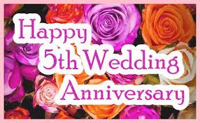 happy 5th wedding anniversary ecard roses greetingshare
