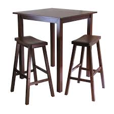 amazon com winsome u0027s parkland 3 piece square high pub table set