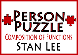 person puzzle composition of functions stan lee worksheet