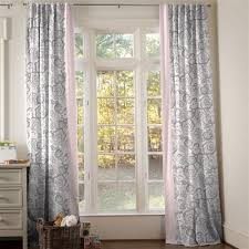 Pink And Gray Curtains Drapes And Curtains Coordinating Drape Panels Carousel Designs