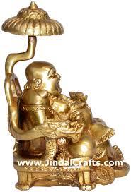 laughing buddha buda happy man feng shui home decoration art hand