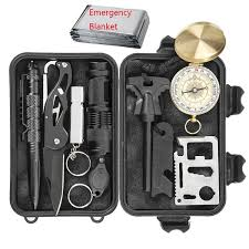survival car car survival kit 10 in 1 outdoor emergency tools bag long road