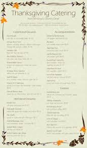 harvest catering menu thanksgiving menus