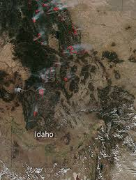 Bc Wildfire Boulder Creek by Maple Fire Threatens Western Edge Of Yellowstone National Park Nasa