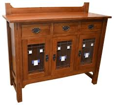 Glass Buffet Furniture by Arts And Crafts Stained Glass Buffet Craftsman Buffets And