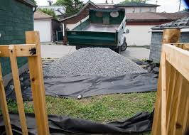 How Many Cubic Yards Are In A Ton Of Gravel One Canadian Home Creating A Gravel Parking Pad
