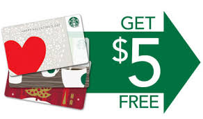 5 gift card get 5 free at starbucks when buying a 15 gift card point me to