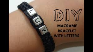 easy how to make a macrame bracelet with letters for beginners