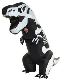 unisex mens womens skeleton t rex inflatable costume