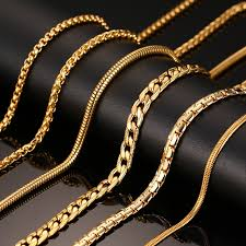 box chain gold necklace images Vnox 24inch gold color chain necklace long stainless steel metal jpg