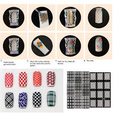 nail art stencils vinyl hollow stickers decal manicure tips stamp