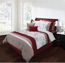 Red And Grey Comforter Bedroom Unusual Luxury Bedroom Sets Brown And Red Comforter Sets