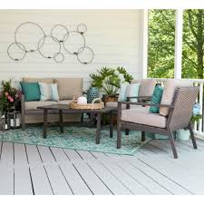 Turquoise Patio Furniture by Blue Patio Conversation Sets Outdoor Lounge Furniture The