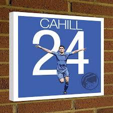 gary cahill square canvas wrap soccer art print chelsea soccer