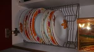 dish organizer for cabinet plate organizer it s easier in and out the kitchen cupboard ikea