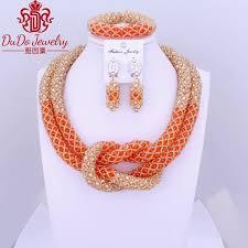 gold orange necklace images Simple dubai design choker necklace gold orange african beads jpg