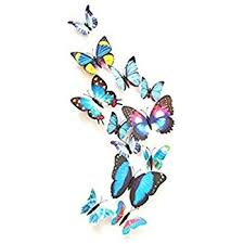 12pcs 3d butterfly stickers card stickers wall stickers 3d