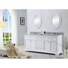 White Double Sink Bathroom Vanities by Water Creation Derby 72 Inch Solid White Double Sink Bathroom