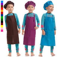 tablier cuisine enfants 54 50 cm coloré enfants cuisine tablier de cuisine nettoyage