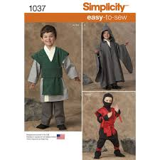 sewing pattern ninja costume pattern for boys easy to sew costumes simplicity