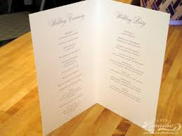 what goes on a wedding program its all in the details paper panache invitations design
