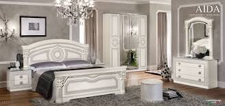 Bedroom Furniture Black And White Aida White W Silver Camelgroup Italy Classic Bedrooms Bedroom