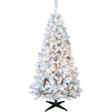 puleo 6 ft flocked mixed tree with 200 clear lights