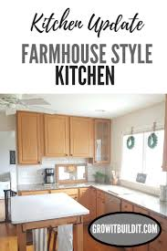 farmhouse style kitchen with oak cabinets farmhouse style kitchen update w out painting oak cabinets