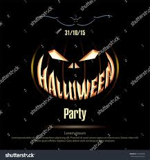 halloween party background vector illustration halloween poster on black stock vector