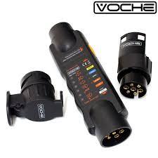voche 12v 7 pin trailer lights plug u0026 socket wiring circuit tester