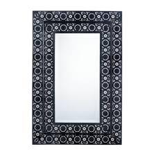 Mirror Wall Decor by Decorative Wall Mirrors Moroccan Style Frame Black Wall Mirror
