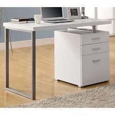 Drawer Pedestal Friedrich Modern Pedestal Desk Metal Sled Leg White Dcg Stores