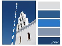 santorini blue colour palette colour pinterest blue colour
