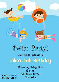 Cheap Birthday Invitation Cards Swimming Party Invitations Send Cards Online Free Funny