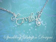 wire name necklace name necklace ebay