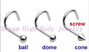 nose rings ball images Screw nose ring stud piercing fancy body jewelry 200pcs lot ball jpg