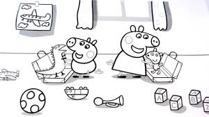 peppa pig with george and toys coloring book coloring pages