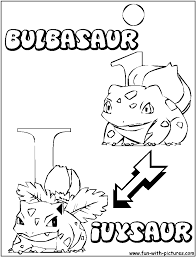 bulbasaur ivysaur coloring page