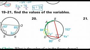 day 06 hw inscribed angles and polygons arcs youtube