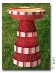 Flower Pot Bird Bath - clay pot lighthouse click image to find more gardening pinterest