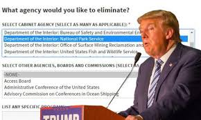 Department Of The Interior National Park Service New Trump Web Page Asks Americans If They Want To Ax National Park