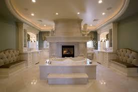 15 luxury bathrooms with astonishing fireplaces