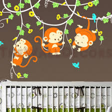 Nursery Monkey Wall Decals Monkeys Wall Decals