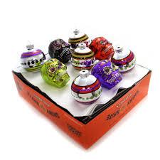 Glass Halloween Ornaments by Christopher Radko Rounds And Skulls Halloween Halloween Glass
