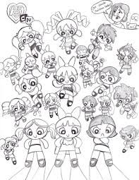 powerpuff coloring pages creativemove