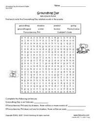 groundhog 2nd 7th grade worksheet lesson planet