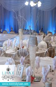 Blue Wedding Centerpieces by White And Bling Wedding Decor Winter Wonderland Wedding Decor